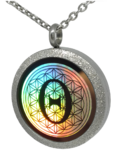 Theta Locket Flower of life